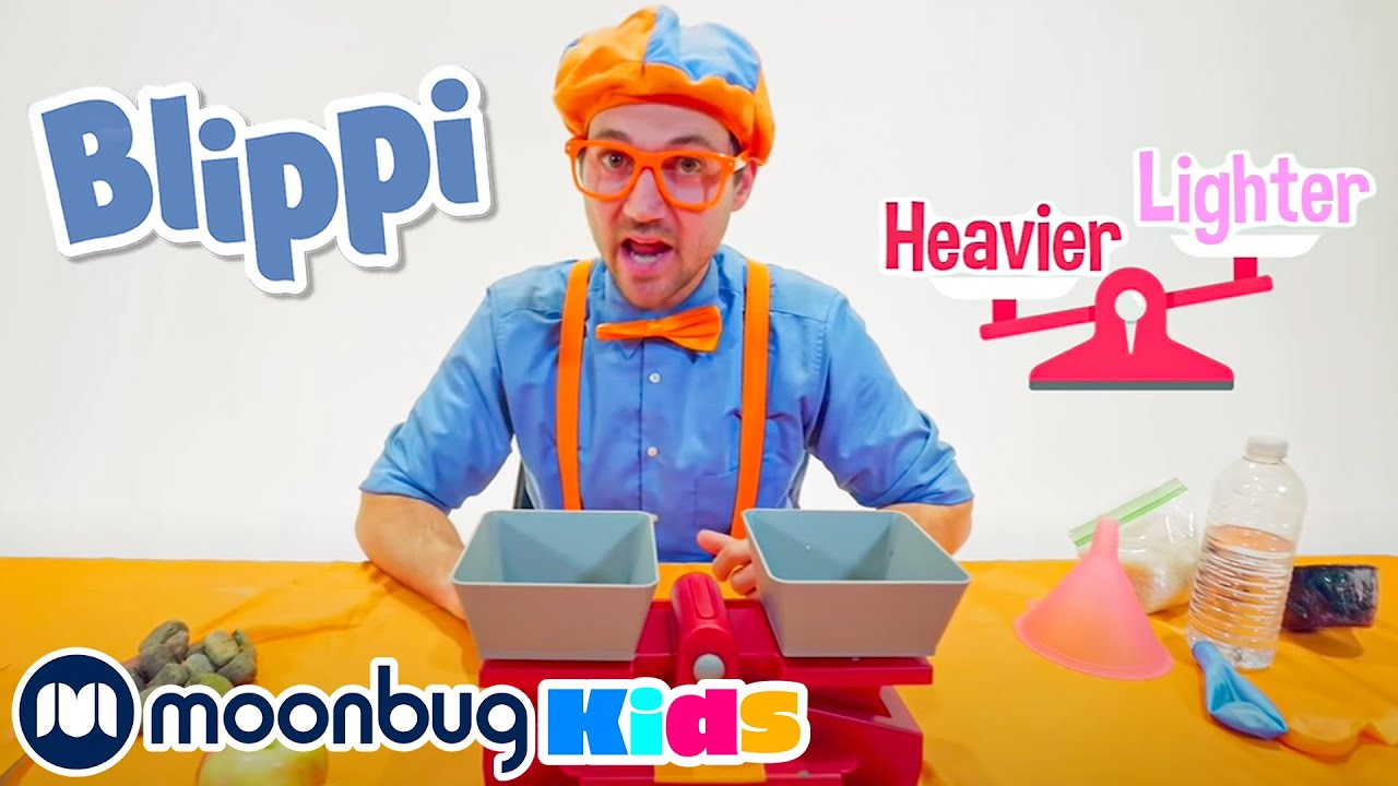 Blippi Learns About Weight - Heavier or Lighter? | Blippi Visits | Moonbug Kids