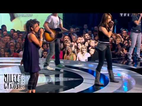 """Miley Cyrus ft. Joanna - """"7 Things"""" Live at Star Academy, France 2008"""