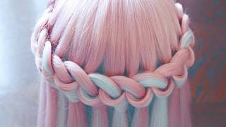видео Как плести косу водопад из волос самой себе