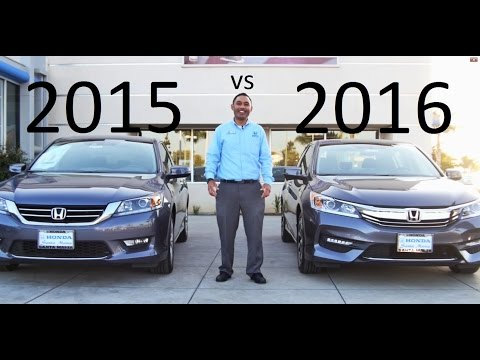 2016 Honda Accord VS 2015 Accord Comparison V6 equipment review