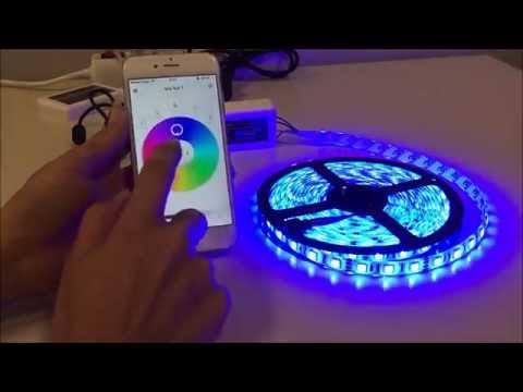 Como funciona tira LED RGB WIFI con iphone android