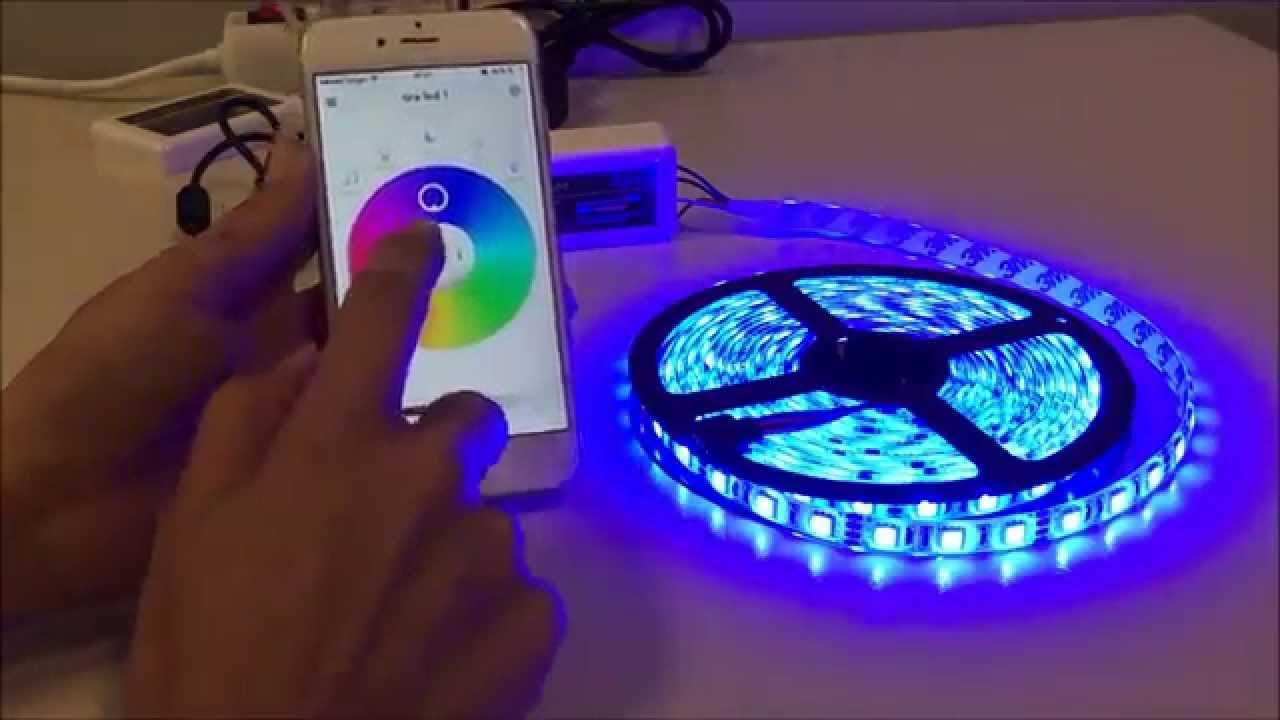 Como funciona tira led rgb wifi con iphone android youtube - Tiras de led rgb ...
