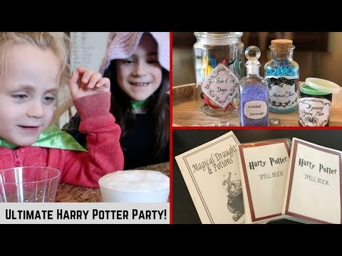 HARRY POTTER POTIONS CLASS & MOVIE VIEWING PARTY | Beingmommywithstyle