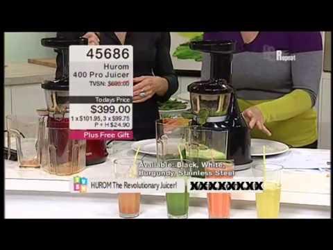 Hurom Slow Juicer Demo : Hurom Slow Juicer HU-100B Carrot, Celery and Garlic Juice Doovi