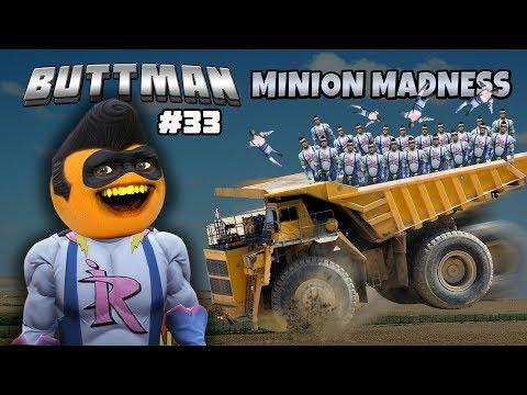 Adventures of Buttman #33: Minion Madness! (Annoying Orange GTA V)