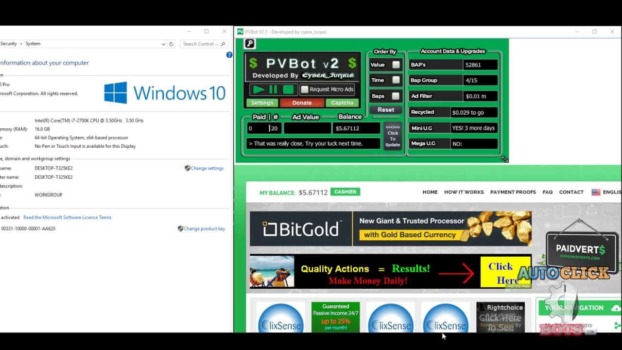 PVBot V2 - Customer Test - 2Captcha - Windows 10 by