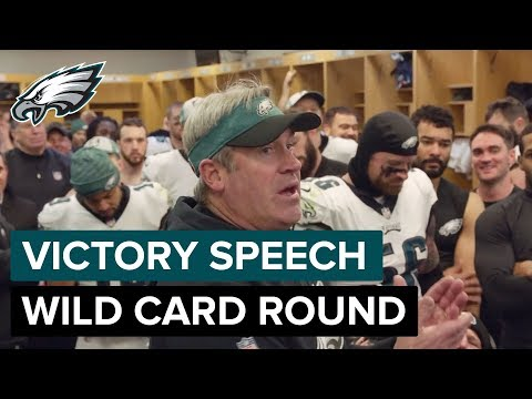 You Were Built for This! Wild Card Victory Speech | Philadelphia Eagles