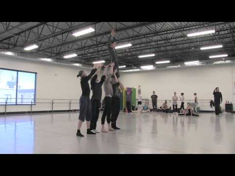 Artists of Colorado Ballet rehearse Caterpillar in ALICE (in wonderland)