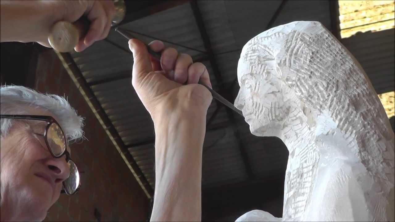 sculpteur sur pierre cr ation d 39 une sculpture youtube. Black Bedroom Furniture Sets. Home Design Ideas