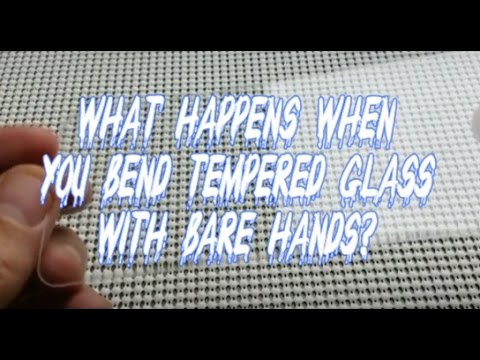 What Happens When You Bend/Crack Tempered Glass Screen Protector with Bare  Hands?