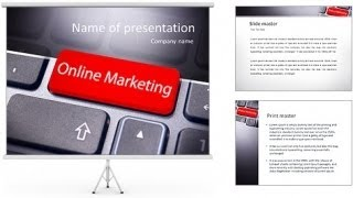 Online marketing or internet marketing concepts, with message on enter key of keyboard.