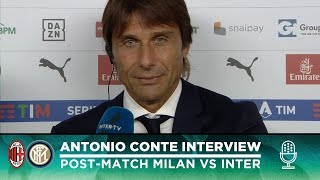 "MILAN 0-2 INTER | ANTONIO CONTE INTERVIEW: ""A deserved win, I'm happy for our fans"" [SUB ENG]"