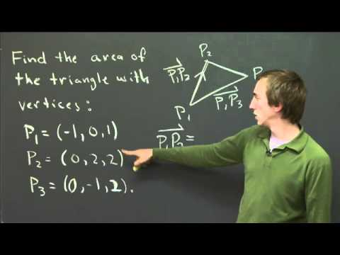 Finding area using cross products | MIT 18.02SC Multivariable Calculus, Fall 2010