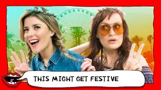 COACHELLA FASHION REVIEW with Grace Helbig & Mamrie Hart