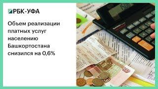 Объем реализации платных услуг населению Башкортостана снизился на 0,6%