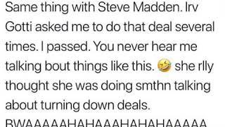 Nicki Minaj lies about deal from Steve Madden