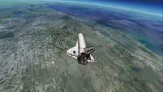 Space Shuttle Atlantis Deorbit/Landing
