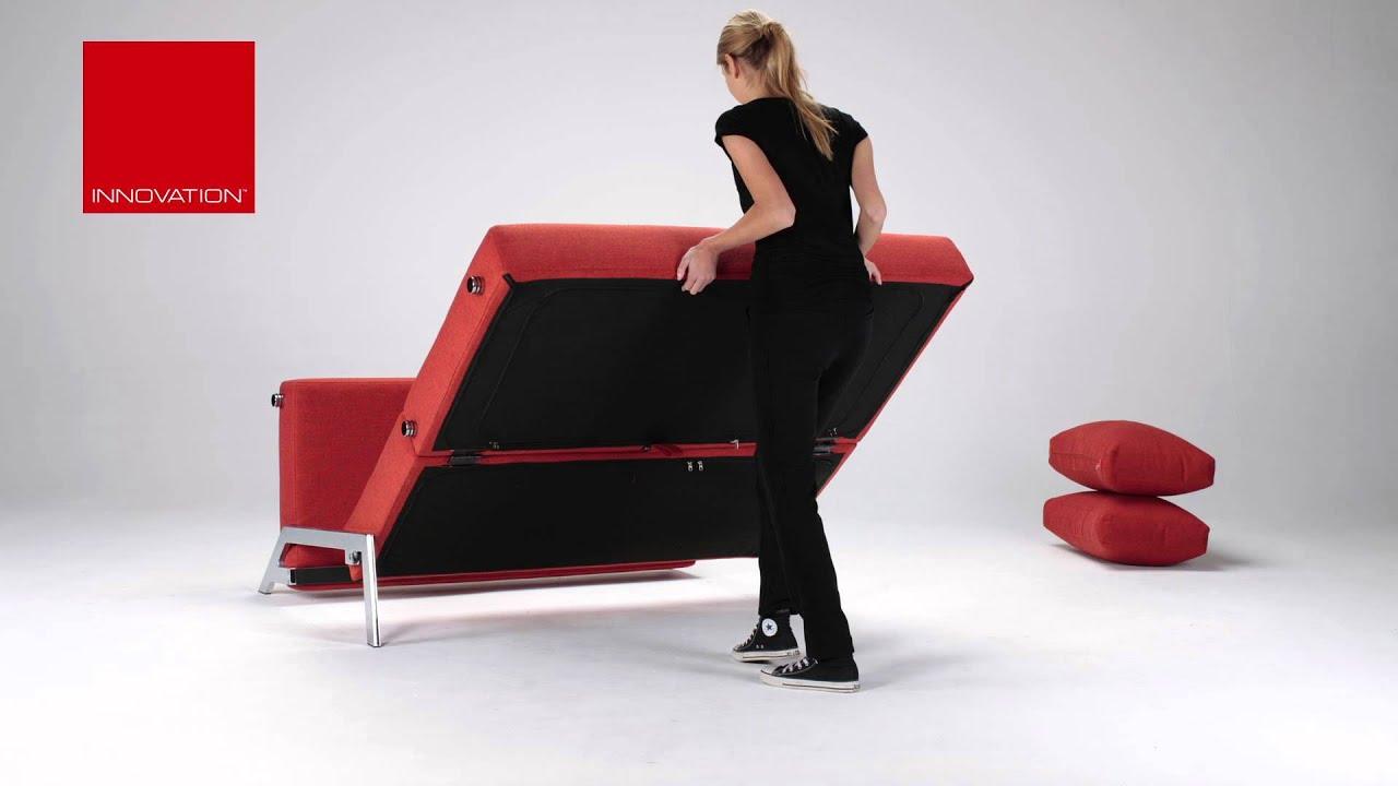 cubed 140 deluxe klappsofa von innovation mit gro er liegefl che youtube. Black Bedroom Furniture Sets. Home Design Ideas