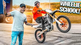 TEACHING YOUTUBER FLORIDAMADE HOW TO WHEELIE A YZ250F DIRTBIKE ! | BRAAP VLOGS