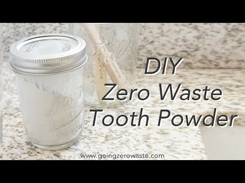 DIY, Zero Waste Tooth Powder