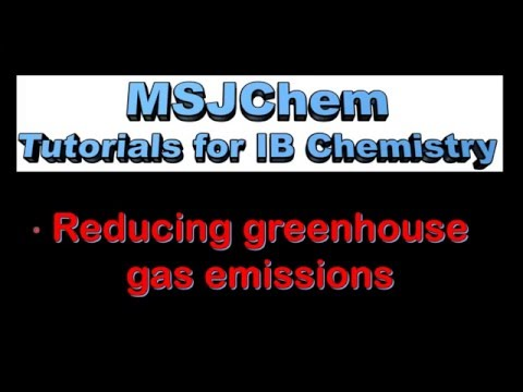 C.5 Reducing greenhouse gas emissions (SL)