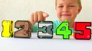 Цифры-трансформеры   Учимся считать от 1 до 10   Обучающее видео для детей