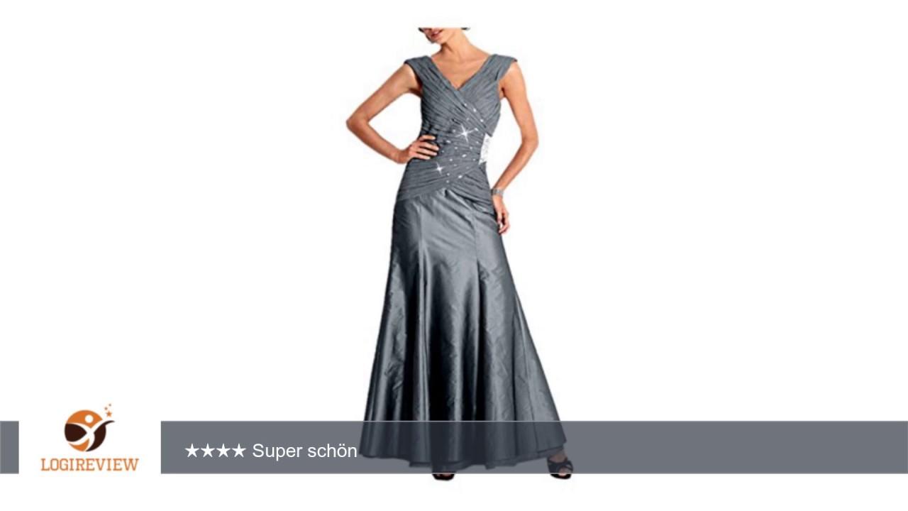 Heine Damen-Kleid Abendkleid mit Strass Grau Größe 18 (36 ...