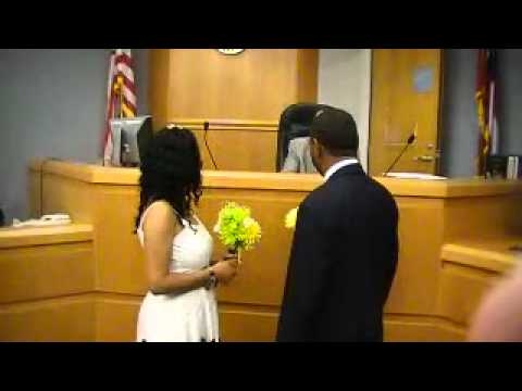 Courthouse wedding of Camelia and Darnell