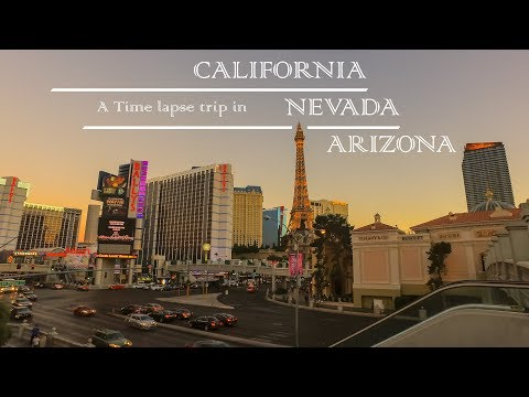 TimeLapse Trip  -  On the roads of California, Nevada and Arizona