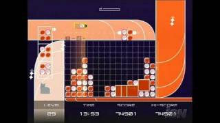 Lumines Plus PlayStation 2 Gameplay - Orange