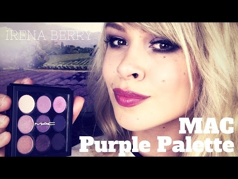 PRO: Палетка теней MAC Purple Times 9 ♡ IRENA BERRY