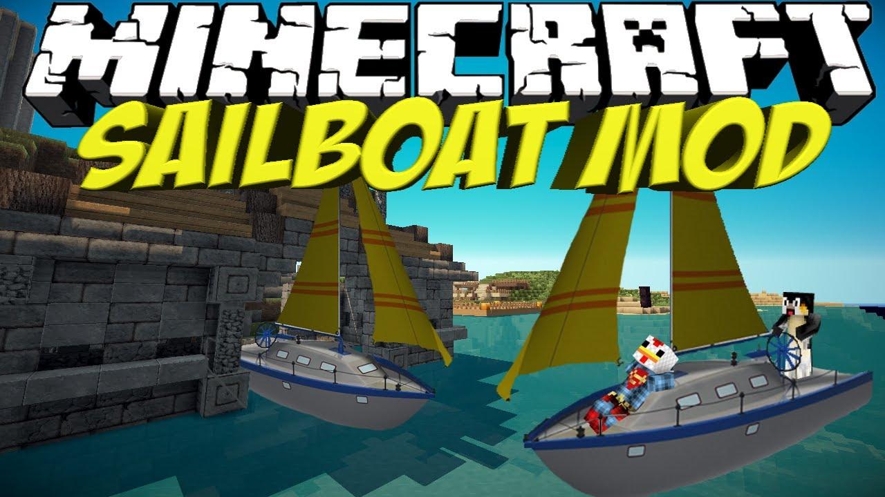 Boat Mod: Minecraft Sailboat Mod Showcase!