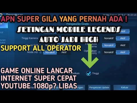 APN MOBILE LEGENDS SUPPORT ALL OPERATOR MASIH LAG PING JUMP COBA APN INI SETTINGAN AUTO JADI HIGH ! - 동영상