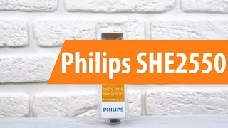 распаковка Philips SHE2550 / Unboxing Philips SHE2550