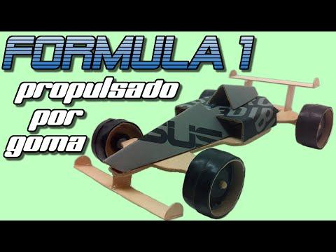 Fórmula 1 propulsado por goma o bandita elástica, cómo se hace