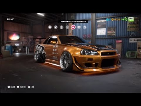 Need For Speed Payback - LVL 399 Eddie Nissan Skyline GTR R34 Drift Spec Gameplay