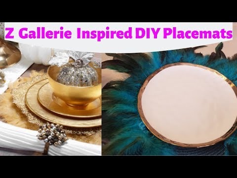 DIY Z GALLERIE INSPIRED  PLACEMATS !! || HOW TO DIY PLACEMATS ||