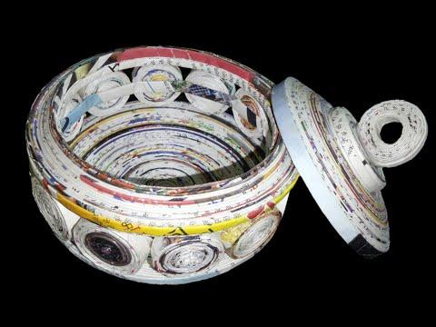 How to make a Jewellery box using newspaper DIY newspaper craft