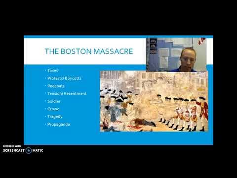 One Minute History: The Boston Massacre