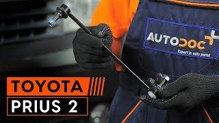 Kaip pakeisti priekinė stabilizatoriaus traukė TOYOTA PRIUS 2 [PAMOKA AUTODOC]