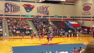 Graham HS Bella Blues Drill Team Pep-rally 9/11/15