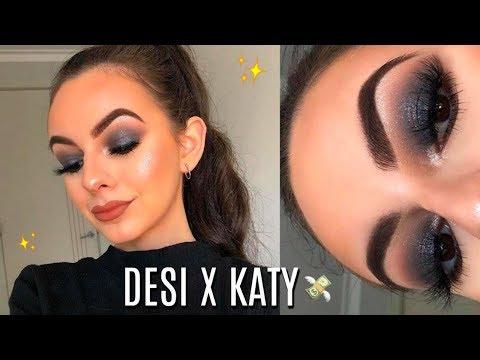 Desi X Katy Dose Of Colors Round 2   Black Smokey Eye Makeup Tutorial!