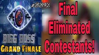 Bigg Boss Final Eliminated Contestant!   BBK5 Finale