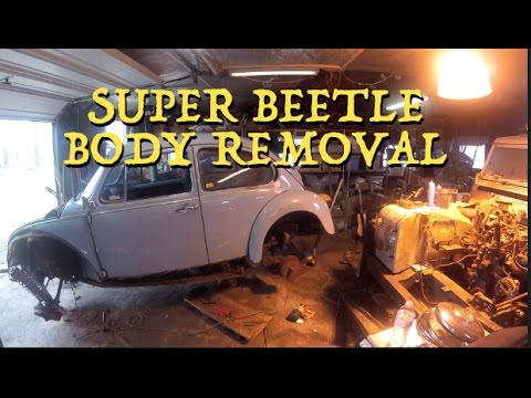 Removing Steering Column, Front Fenders, And Body From Frame (SB  Restoration Pt  2)