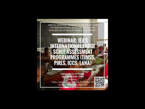 UNESCO-IEA webinar: IEA and its international large-scale assessment programmes