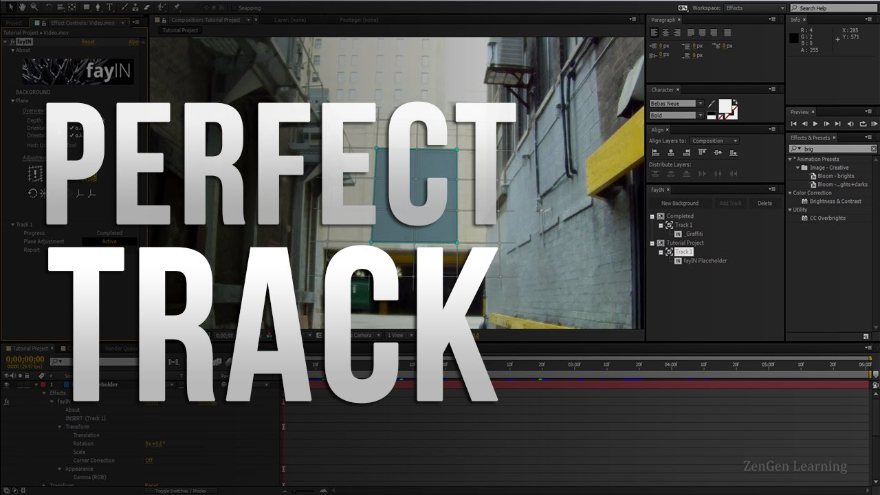 AE │fayIN Tracking Tutorials - 03 - Getting a perfect Track!