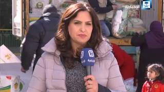 مراسلة الإخبارية: الحملة الوطنية السعودية قدمت قرابة 500 حصة إغاثية للنازحين