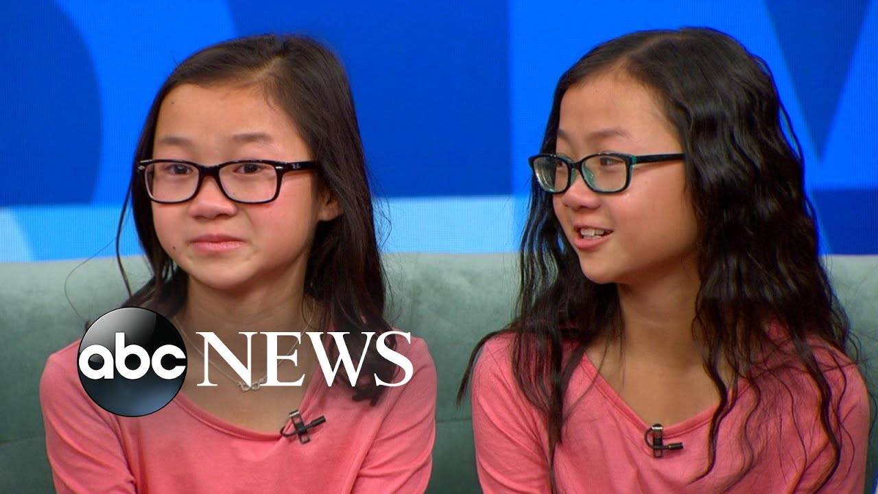 twin sisters separated at birth reunite on 'gma' - youtube