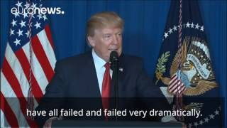Donald Trump's speech on missile strike in Syria (subtitled)
