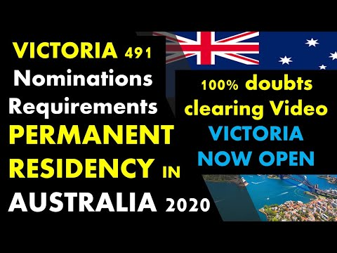 Subclass 491 Victoria State Nominations For Australian PR | Visa Requirements | Regional Area